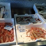 Fisk och skaldjur till salu på Centro Ittico di Terracina