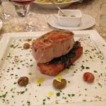 Grillad tonfisk på La Lanterna