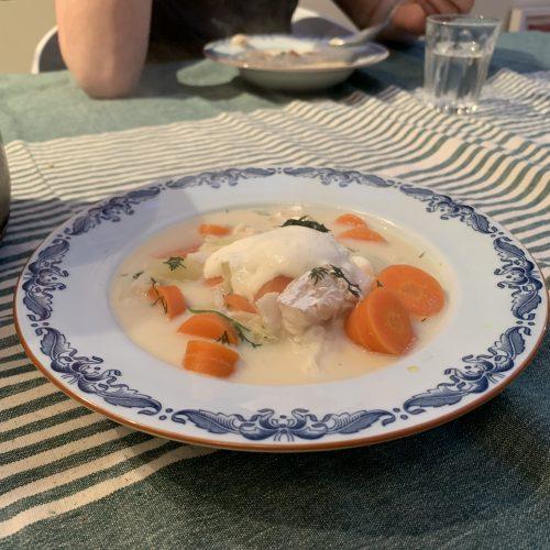 fisksoppa med pepparrot