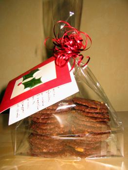 Biscotti di cioccolata e pinoli
