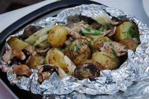 potatis i folie grill