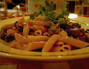 Pasta på Restaurang Agaton