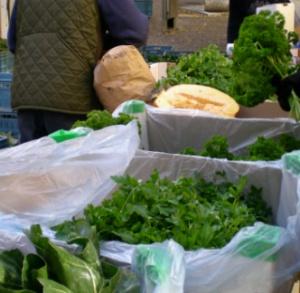 Grönsaker och färska kryddor