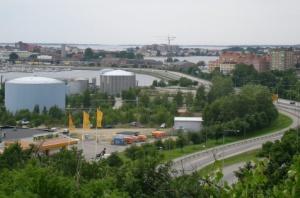 Utsikt mot infarten till Karlskrona centrum