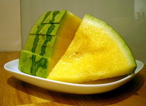 Gul vattenmelon