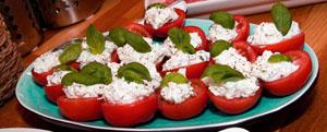 Tomater med getoströra