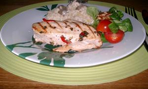 Chili- och oreganomarinerad kyckling med Karl-Johan-risotto