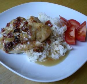 Kycklingfilé med soltorkade tomater och mozarella