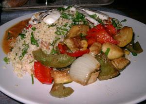 Tabbouleh med halloumi och grillade grönsaker