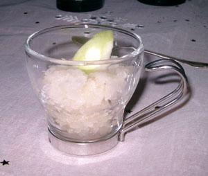 Granité på äppelvodka