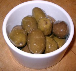 Lättkrossade citronoliver från Grekland