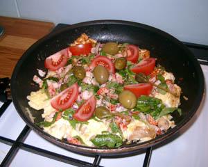 Smaskig omelett