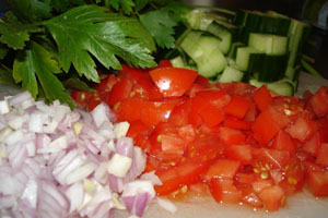 Ingredienser till quinoal