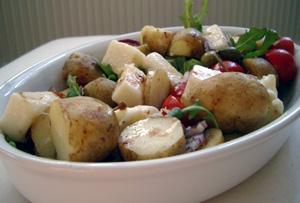 Potatissallad med saganaki