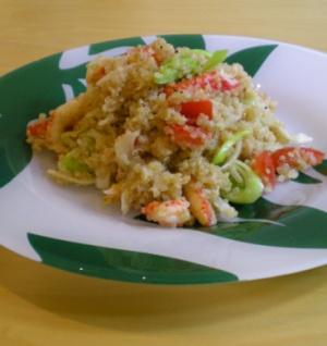 Quinoasallad med fänkål & kräftstjärtar