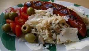 Risonirisotto och chorizo