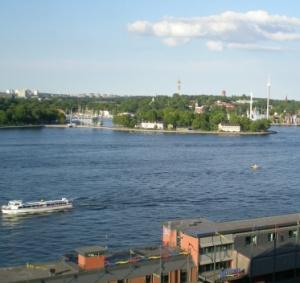 Utsikt mot Skeppsholmen och Djurgården