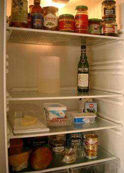 Tomt kylskåp
