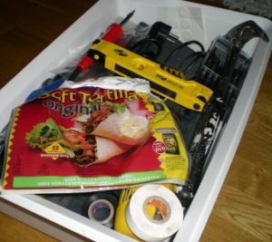 Tortillabröd i verktygslådan