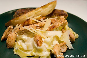 Marias Alla Hjärtans Dag-middag; Chicken Alfredo
