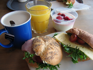 Frukost på Arlanda