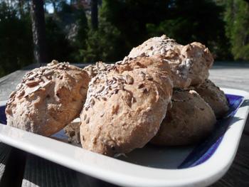 Frukostbröd med blandade frön