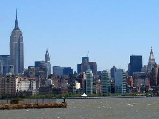 Manhattan sett från Newport