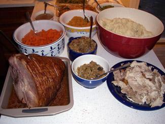 Mat på Thanksgivingbordet