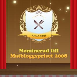 Nominerade till Matbloggspriset 2008