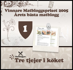 Årets bästa matblogg 2005